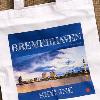 Produkt Stofftragetasche »Bremerhaven Skyline« © 2020 Adrian Wackernah
